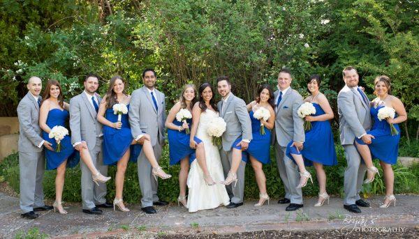 weddingpartyinblue